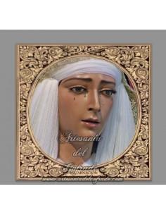 Azulejo cuadrado de la Virgen Santísima de la Encarnación de Cordoba
