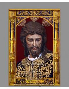 Azulejo rectangular con el Cristo de San Gonzalo de Sevilla