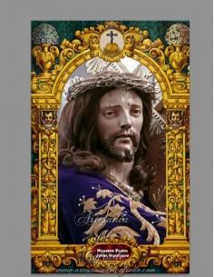 Azulejo rectangular de Jesús Nazareno de Priego (Cordoba)