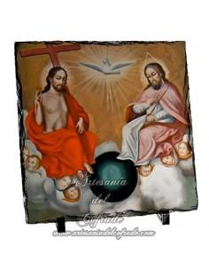 Baldosa de pizarra cuadrada con la Santisima Trinidad