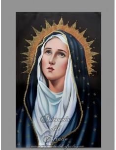 Azulejo rectangular de la Virgen Dolorosa
