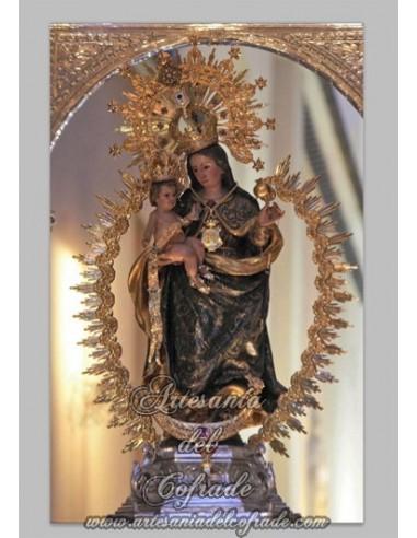 Azulejo  de la virgen de la Cinta Coronada (Patrona de Huelva).