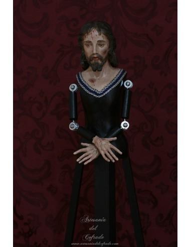 Cristo cautivo para vestir de 60 ctms policromado al oleo.