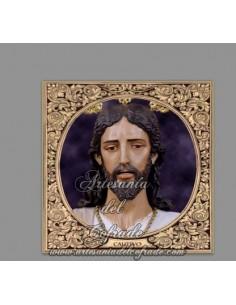 Azulejo cuadrado de Ntro Padre Jesús Cautivo ante Pilato de Sevilla (Torreblanca)