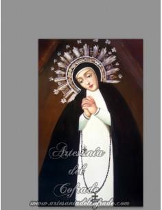 Azulejo rectangular de la Virgen de la Paloma de Madrid