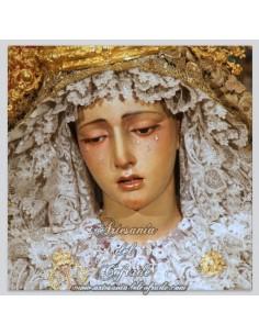 Azulejo cuadrado de la Virgen de la Esperanza Trinitaria de Sevilla