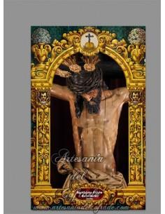 Azulejo rectangular del Santísimo Cristo de la Salud de Sevilla (La Carreteria)