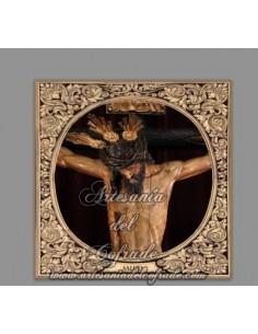 Azulejo cuadrado del Santísimo Cristo de la Salud de Sevilla (La Carreteria)