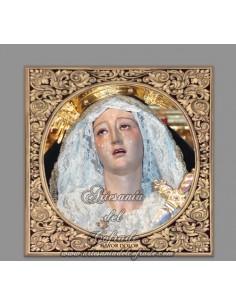 Azulejo cuadrado de Nuestra Señora del Mayor Dolor de Cordoba (Hermandad del Calvario)
