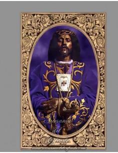 Azulejo rectangular del Cristo de Medinaceli de Madrid