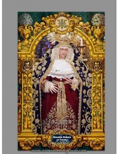 Azulejo rectangular de Nuestra Señora de Loreto de Sevilla