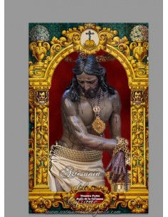 Azulejo rectangular de Nuestro Padre Jesús de la Columna de Málaga