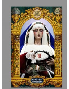 Se vende este azulejo de la Virgen de las Mercedes de Sevilla (Cofradia de Santa Genoveva)