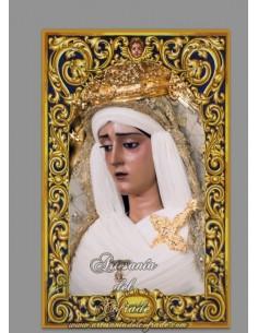 Azulejo rectangular de la Virgen de la Caridad de Sevilla (Cofradía del Baratillo)