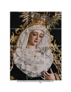 En venta este retablo de 12 azulejos con la Virgen del Mayor Dolor y Traspaso de Sevilla