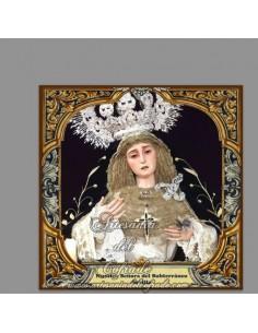 Azulejo cuadrado de Nuestra Señora del Subterráneo de Sevilla