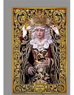Azulejo rectangular de la Virgen de los Dolores de Sevilla (Hermandad del Cerro del Aguila)