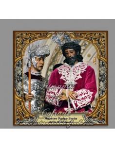 Se vende baldosa de cerámica de Nuestro Padre Jesús de la Sentencia de Sevilla