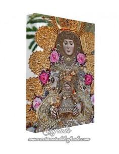 Lienzo con bastidor 20x30 de la Virgen del Rocio (Blanca Paloma)