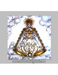 Azulejo Cuadrado de la Virgen del Rocio.