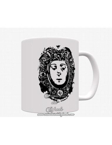 Se vende bonita taza con el rostro de la virgen del Rocio
