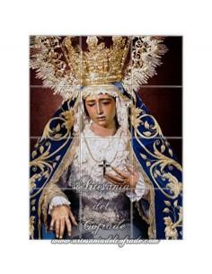 Se vende mosaico de 12 azulejos de la virgen de la Amargura de Sevilla