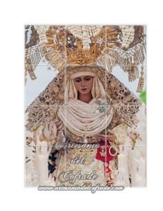 Se vende mosaico cerámico de 12 azulejos de la Virgen de la Esperanza de Triana-Sevilla
