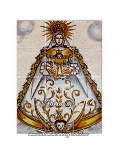 En venta mosaico de 12 azulejos de la Virgen del Rocio (Patrona de Almonte) -Tienda Cofrade