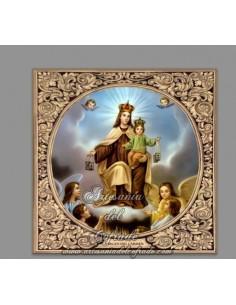 Se vende azulejo cuadrado de la Virgen del Carmen con greca - Tienda de Articulos Religiosos