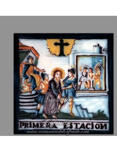 Se vende cerámica de la primera estación del Via crucis - Tienda de Productos religiosos