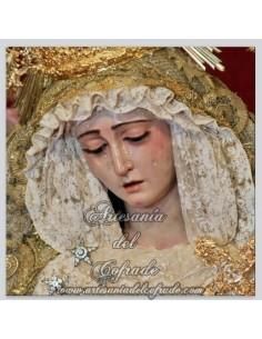 Azulejo de la  Virgen  del Rosario de la hermandad de Montensión de Sevilla