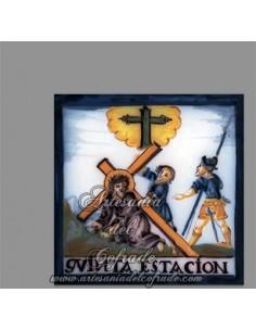 Se vende cerámica con la quinta estación del Via crucis - Tienda de Articulos Religiosos