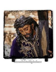 En venta esta pizarra cuadrada del Santísimo Cristo de las Tres Caídas (Triana, Sevilla)