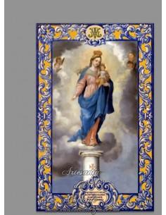 Se vende cerámica de la Virgen del Pilar con lema - Tienda de productos religiosos