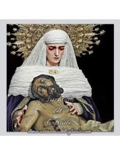 Precioso azulejo de la Sagrada Mortaja de Sevilla