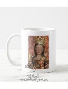 Se vende esta taza de cerámica de Santa María de la Victoria (Patrona de Málaga)