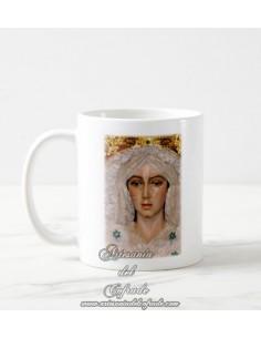 En venta esta taza cerámica de la virgen de la Esperanza Macarena de Madrid