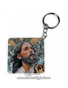 En venta este llavero cuadrado de plastico de Nuestro Padre Jesús de la Oración en el Huerto de Cordoba
