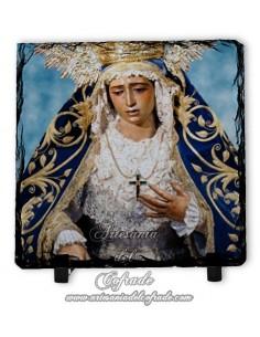 En venta esta baldosa de pizarra cuadrada de la Virgen de la Amargura de Sevilla