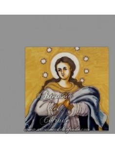 En venta esta cerámica cuadrada de la Virgen Inmaculada Concepción - Tienda Cofrade