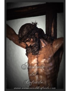 Azulejo  del Santísimo Cristo de las Almas de la Cofradía de los Javieres de Sevilla