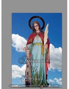 En venta este azulejo con Santa Bárbara Patrona de la Artillería - Tienda de Semana Santa