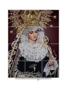 Se vende este mosaico de 12 azulejos de María Santísima del Buen Fin de Sevilla. Cofradia de la Lanzada