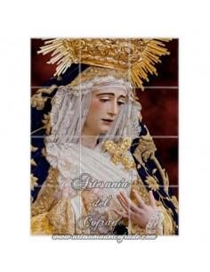 Se vende este mosaico de cerámica de la Virgen de Loreto de Sevilla. Cofradia de San Isidoro