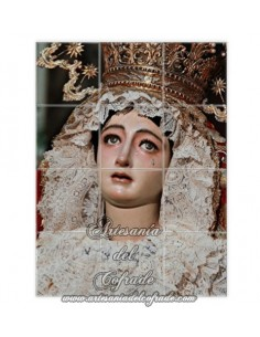 En venta este mosaico de 12 azulejos de Madre de Dios de la Palma de Sevilla. Cofradia del Cristo de Burgos