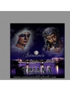 Azulejo cuadrado con los Titulares de la Esperanza de Triana (Sevilla) - Tu Tienda Cofrade