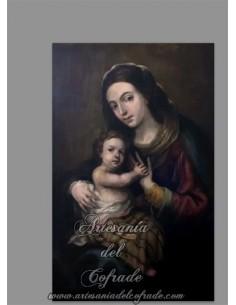 Se vende este azulejo rectangular de la Virgen María con el niño Jesús - Tienda de Productos religiosos