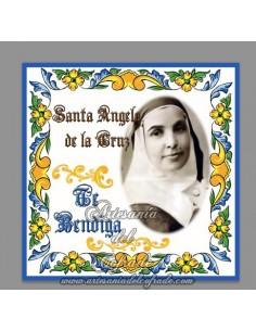 Se vende esta cerámica de Santa Angela de la cruz te bendiga - Tienda Online de Articulos Religiosos