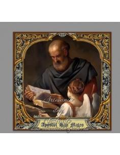 En venta esta cerámica del Apóstol San Mateo con greca - Tienda de cerámica religosa