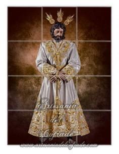 Se vende este Azulejo mosaico de Nuestro Padre Jesús de la Paz de Sevilla (Cofradia del Carmen Doloroso)